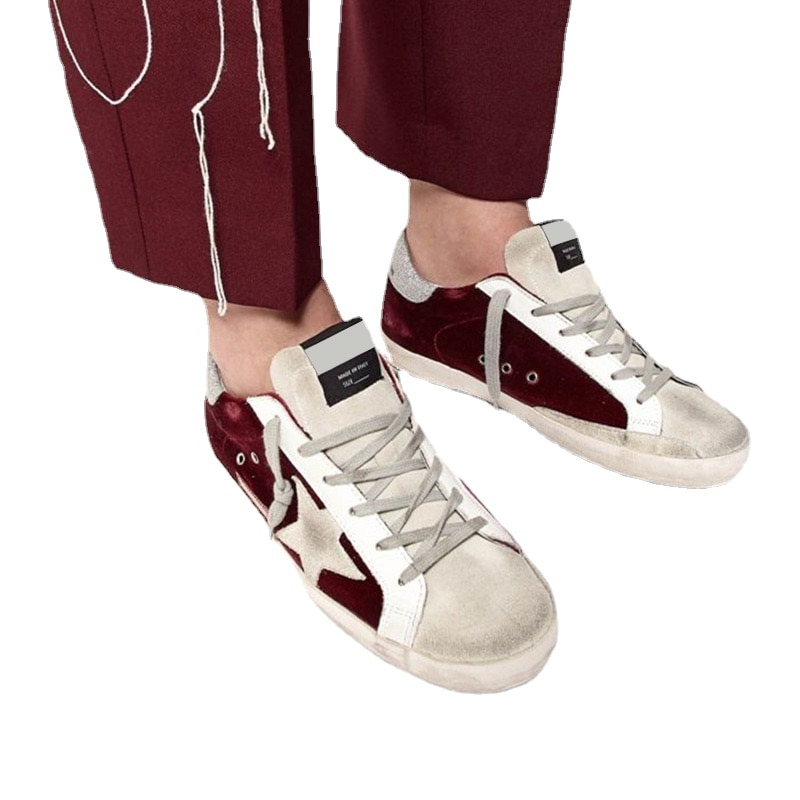 2021 Autumn and Winte New Wine Red Velvet Old Dirty Kids Shoes Boys and Girls Casual Fashion Parent-child Shoes QZ17 enlarge