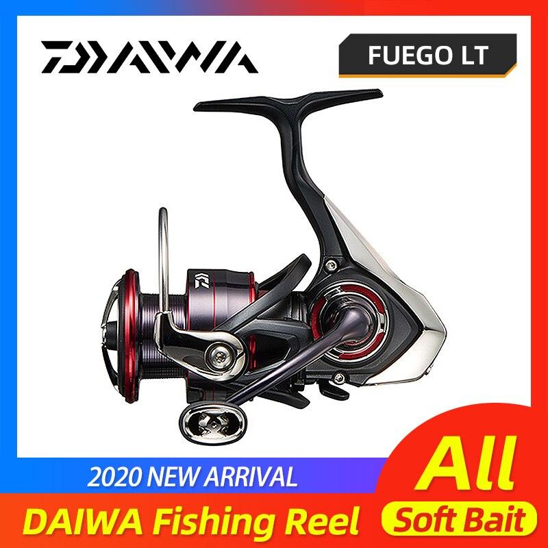DAIWA FUEGO LT carrete de pesca 1000D 2000D 3000C 4000D 5000D 6000D Spinning alto engranaje carbono Material ligero vivienda