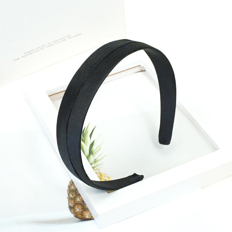 1 pieza de 3/4cm de tela negra de plástico bandas anchas bisel plano para hacer joyas DIY accesorios diademas Base Accesorios