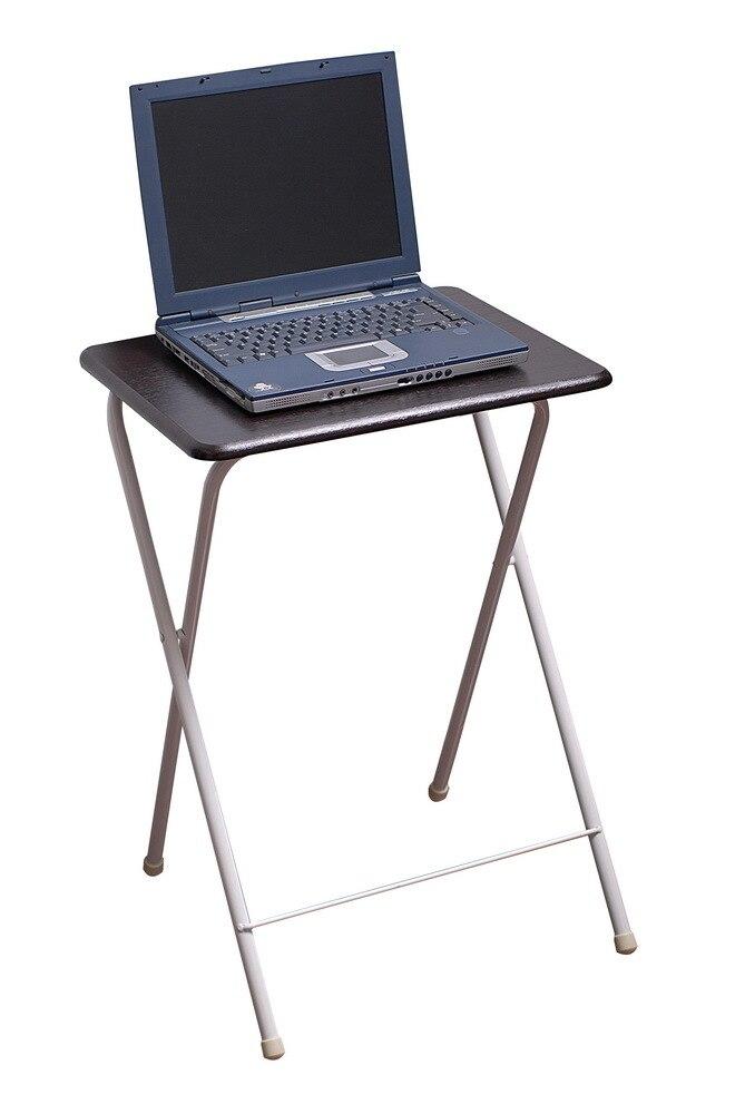 Mesa plegable portátil mesa de madera cuadrada de acero misceláneas mesa pequeña