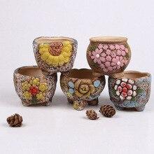 1pcs Personality Ceramic More Succulent Flower Pot Meat Plant Creative Small Flower Pot Nursery Planter Home Office Decoration