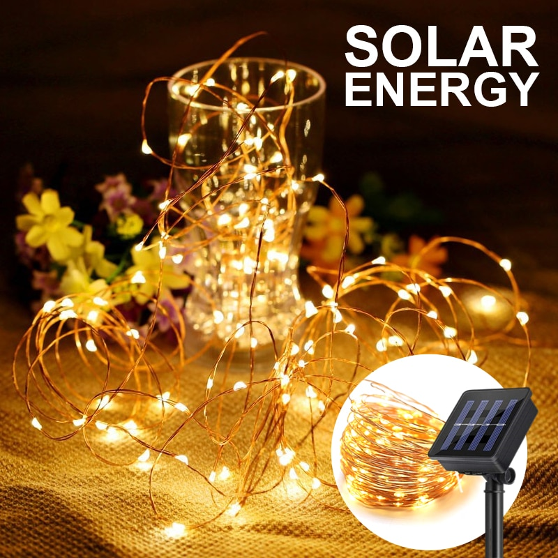 Garland Curtain Lamp Holiday Decoration For Home Bedroom Window Solar Christmas Remote Control USB New YearFairy String Lights