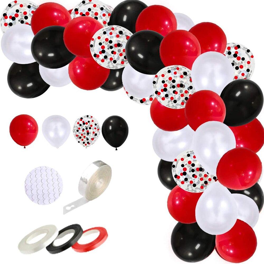 109 шт./лот цирк на день рождения воздушные шары Арка гирлянда комплект Черный, красный, белый цвета воздушные шары конфетти воздушные шары на...