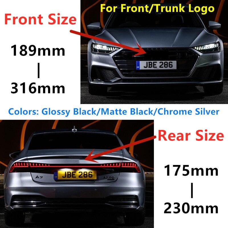 AliExpress - 4 Ring ABS Silver Black Car Hood Front Bonnet Grill Rear Trunk Emblem Logo Badge Sticker For Audi A3 A4 A5 A6 A7 Q2 Q3 Q5 Q8 TT