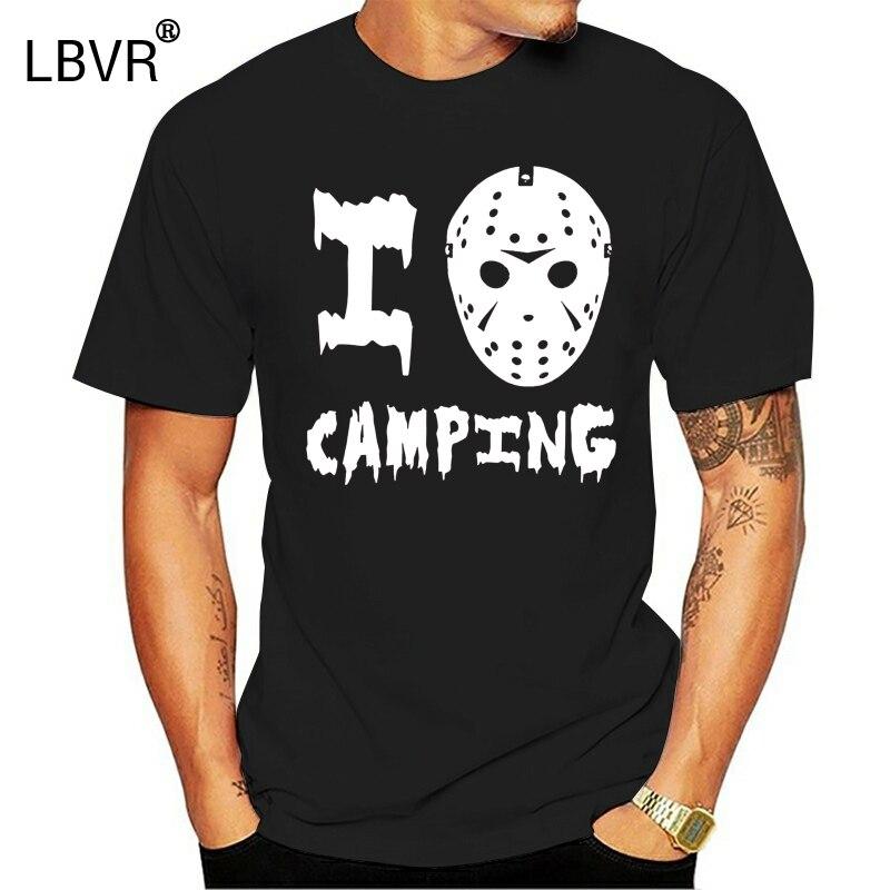 I Love Camping T Shirt Freddy Vs Jason Hockey Mask Machete Camp Crystal Lake Tee Popular Tee Tshirt