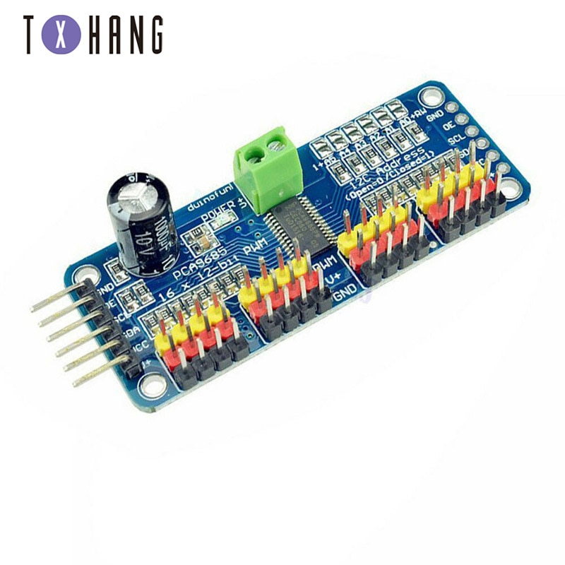 16-канальный 12-битный PWM/Servo Driver-I2C интер�