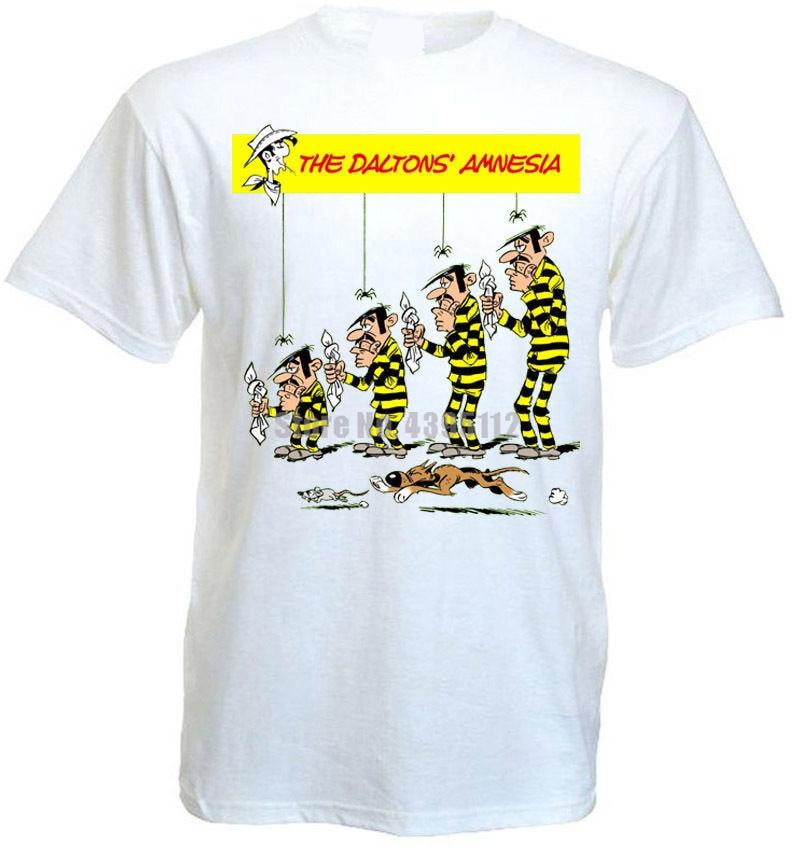El cartel de la película de la Amnesia DE LOS Daltons, camisas de arquería para hombre, camisetas negras, camisas de marca, Tops de verano Ntrrlj