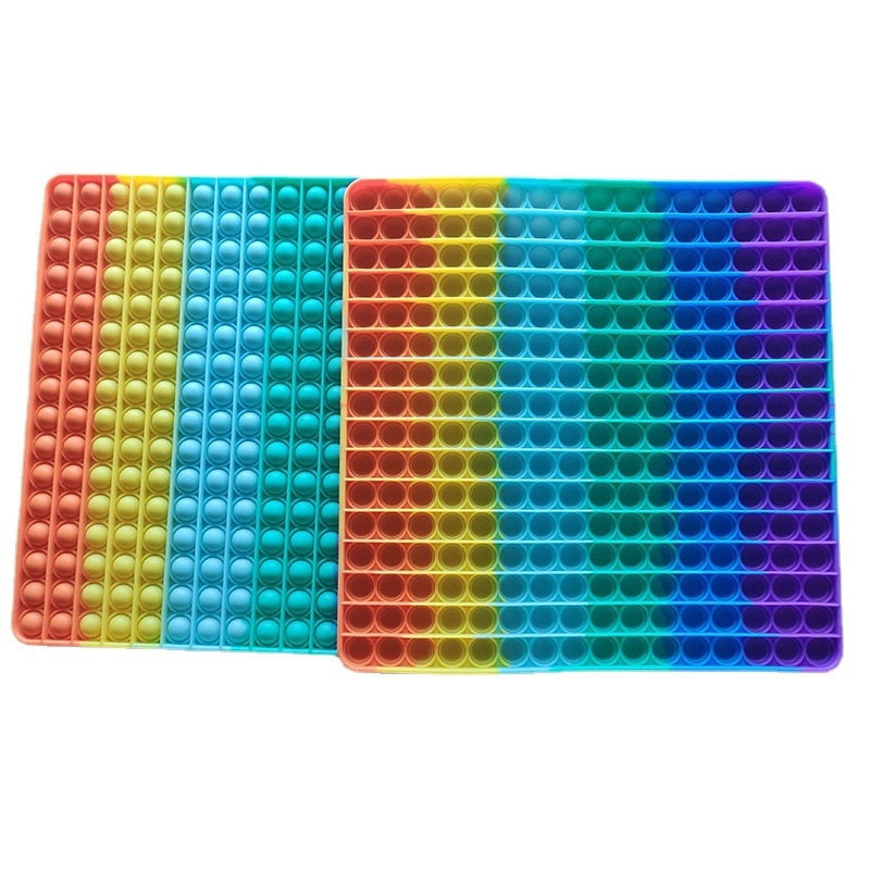 Fidget Toys for Adults and Children Push Bubble Fidget Sensory Toys To Relieve Autism Rainbow Colors Random enlarge