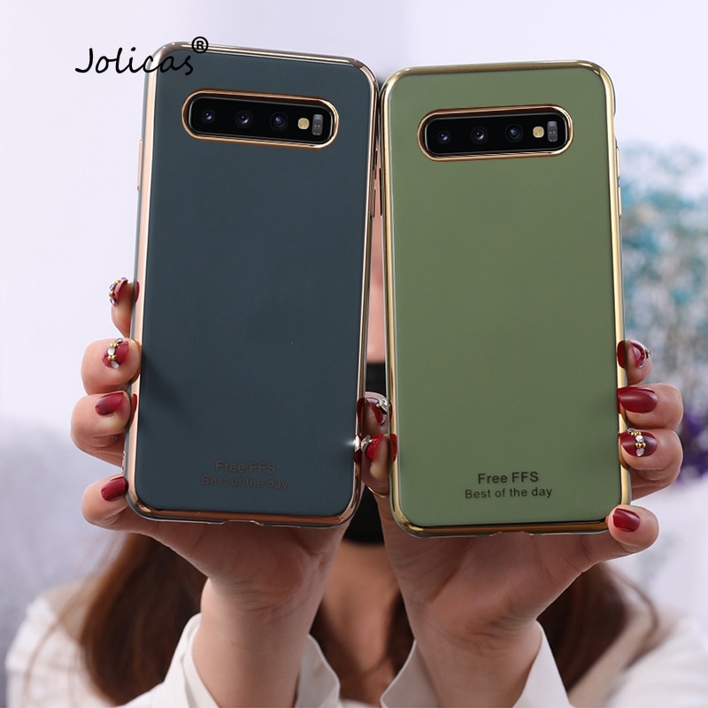 Fundas de teléfono para Samsung S10, Fundas de Color sólido para móvil...