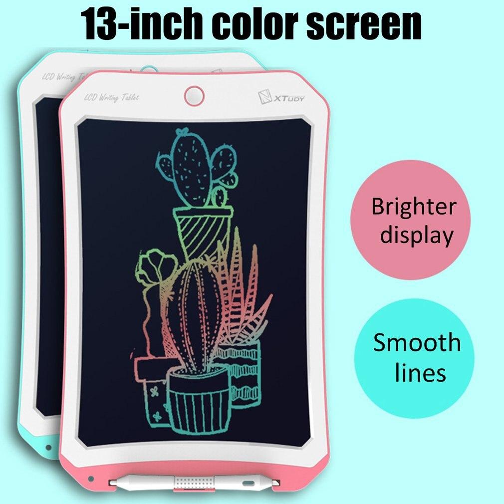 Genuine lcd tablet 13 Polegada crianças graffiti pintura pequena placa de esboço luz placa eletrônico presente brinquedo para crianças