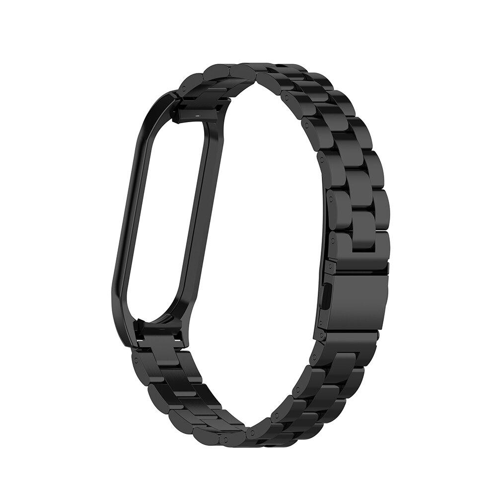 Cinta de Pulso Magnética para mi Esportes Diário Luxuoso Relógio Inteligente Ajustável Acessórios Fixo Aço Inoxidável Substituição Band 4
