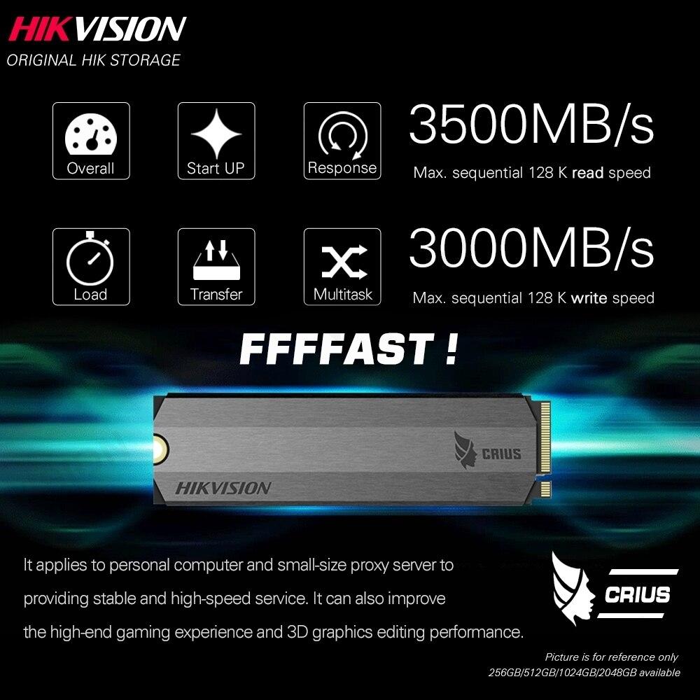 Hikvision SSD 256GB 512GB 1TB 2TB M.2 ngff Nvme PCIe Internal Solid State Disk SDD 2280 for Laptop Desktop TLC Disk enlarge