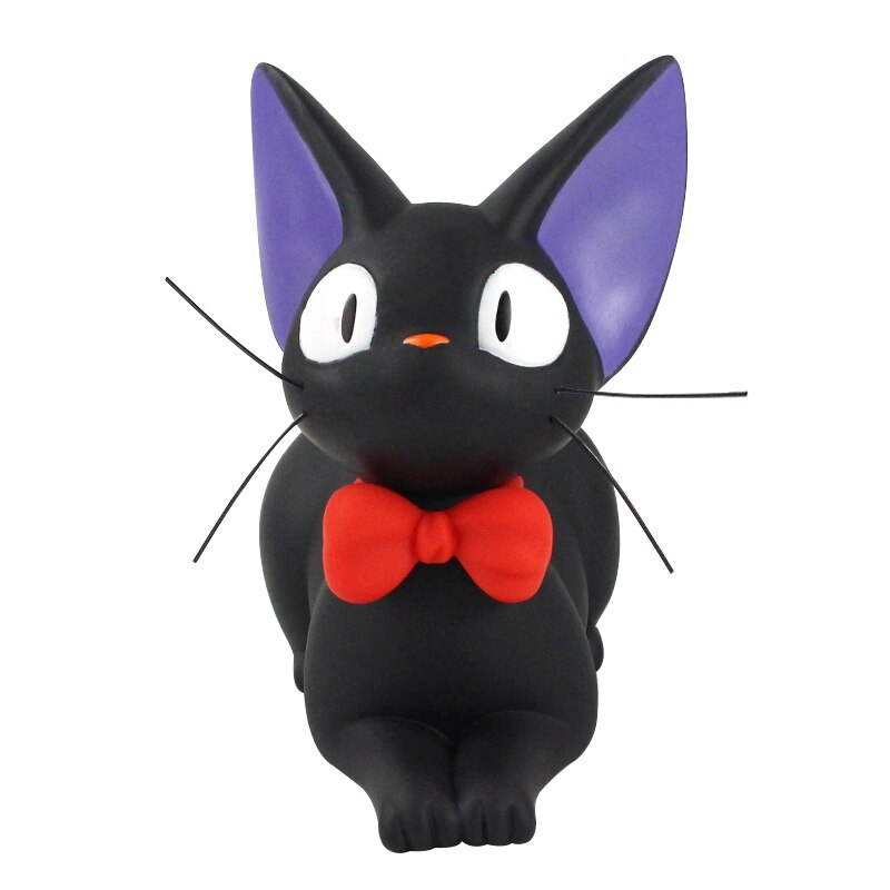 Studio Ghibli Hayao Miyazaki Anime Kikis Delivery Service gato negro JiJi hucha PVC colección de figuras de acción modelo de juguete