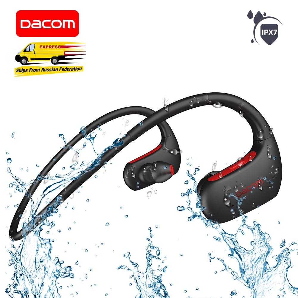 DACOM L05 الرياضة بلوتوث سماعات باس IPX7 مقاوم للماء اللاسلكية سماعة تشغيل سماعة مع هيئة التصنيع العسكري آيفون شاومي هواوي