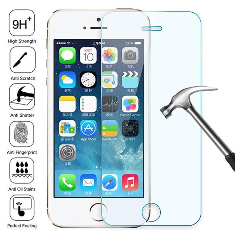 Protector de pantalla de vidrio templado transparente para iPhone promo protectora de...