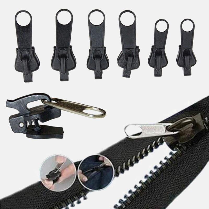 6 unids/set Universal instantánea arreglar Kit de reparación de cremalleras de cremallera Slider dientes rescate nuevo diseño cremalleras para costura 3 #
