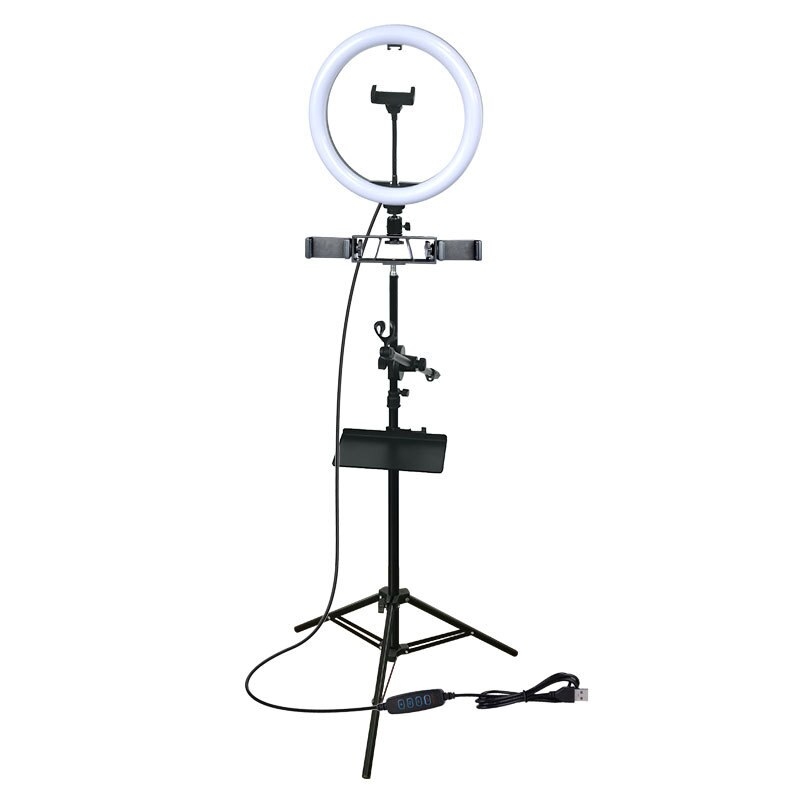 Anillo de 12 pulgadas anillo luz LED lámpara grande, lámpara de Selfie con trípode para teléfono estudio de fotografía foto lámpara redonda, Youtuber
