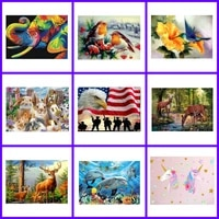 animals deer dolphin bird unicorn posters and prints hd print wall art canvas painting for home living room decor christmas gift