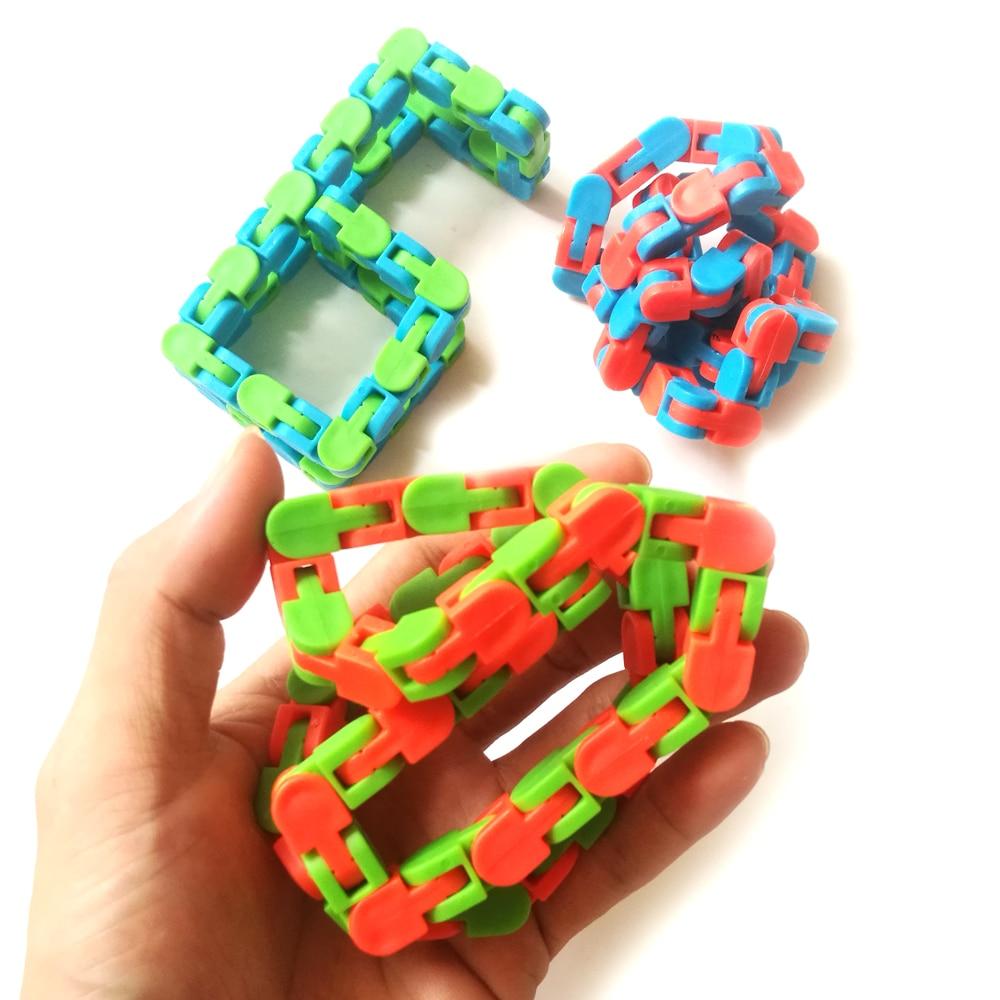 Funny Fidget Chain Anti Stress Toy For Children Kids Adult Bike Chain Fidget Spinner Bracelet Snake Puzzle Educatiaonal Toys