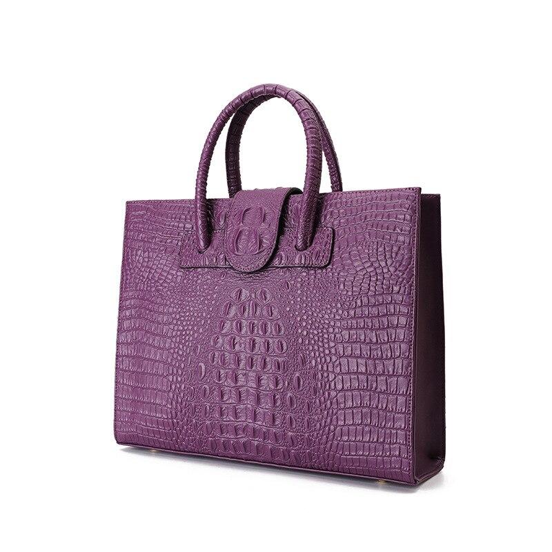 انقسام جلد التمساح نمط المرأة حقيبة كبيرة حقائب اليد حقائب اليد