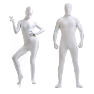 Free shipping customize White Lycra Zentai Suit for Women Female  Halloween Jumpsuit Romper Rush order/Same day shipping/