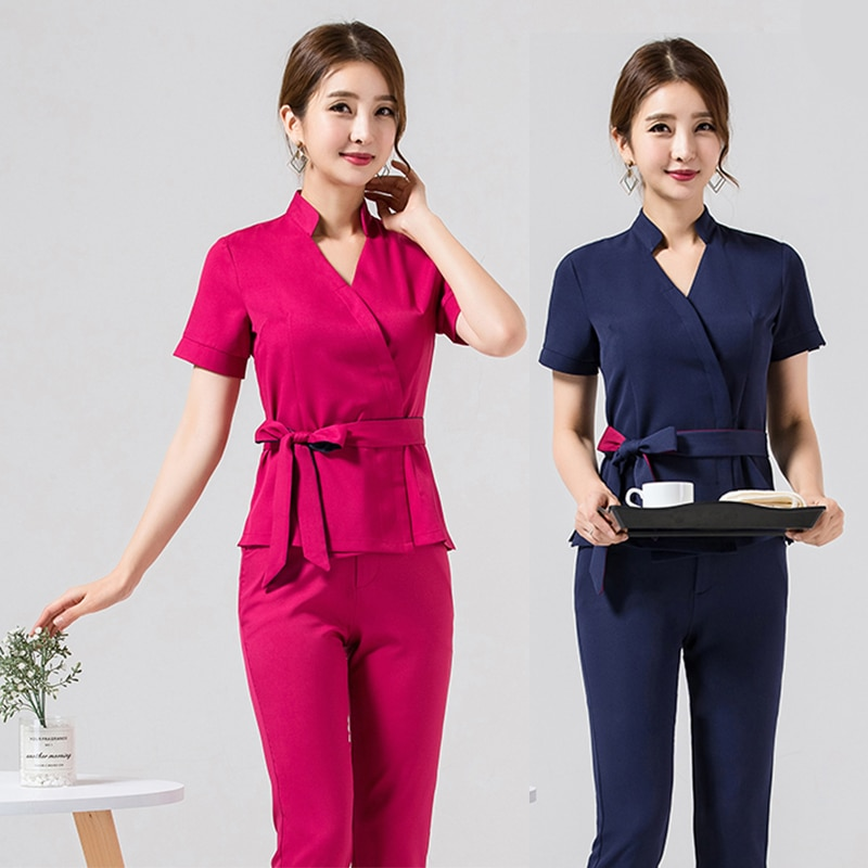 Spa uniform for beauty salon for the cosmetologist thai massage smocks for work Beauty uniforms foot