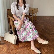 summer chiffon floral skirt for women 7712#