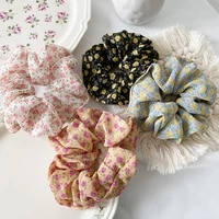 print scrunchies girl ponytail holder hairband hair rope tie floral ring girls hair accessories scrunchies rubber hair band