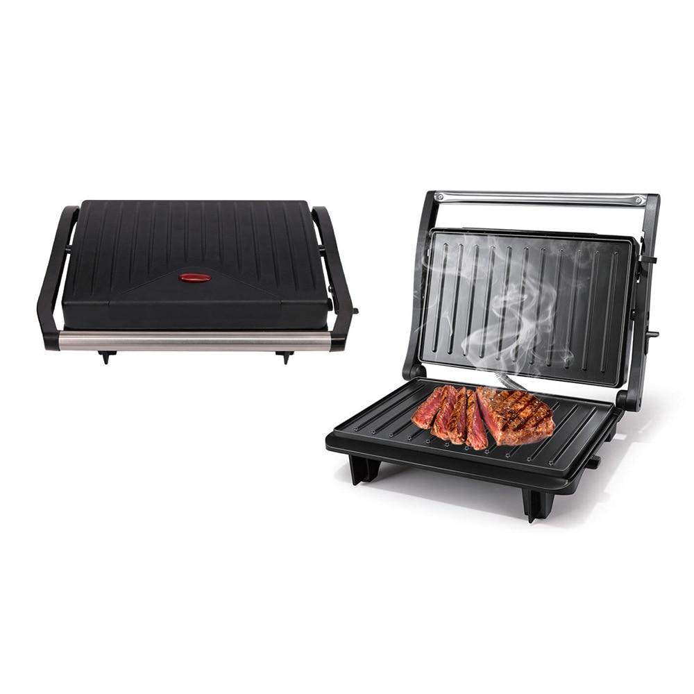 مشوي ستيك آلة مزدوجة التدفئة بانيني الإفطار آلة نخب برغر آلة دخاني اللحوم آلة القلي ماكينة شواء
