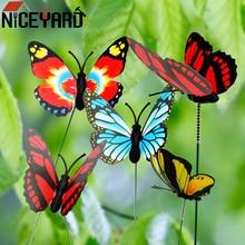 5 Pcs/Bündel Bunte Schmetterling Stakes Schmetterling Blumentöpfe Dekoration Home verbesserung Mit Pile Garten Liefert Outdoor Decor