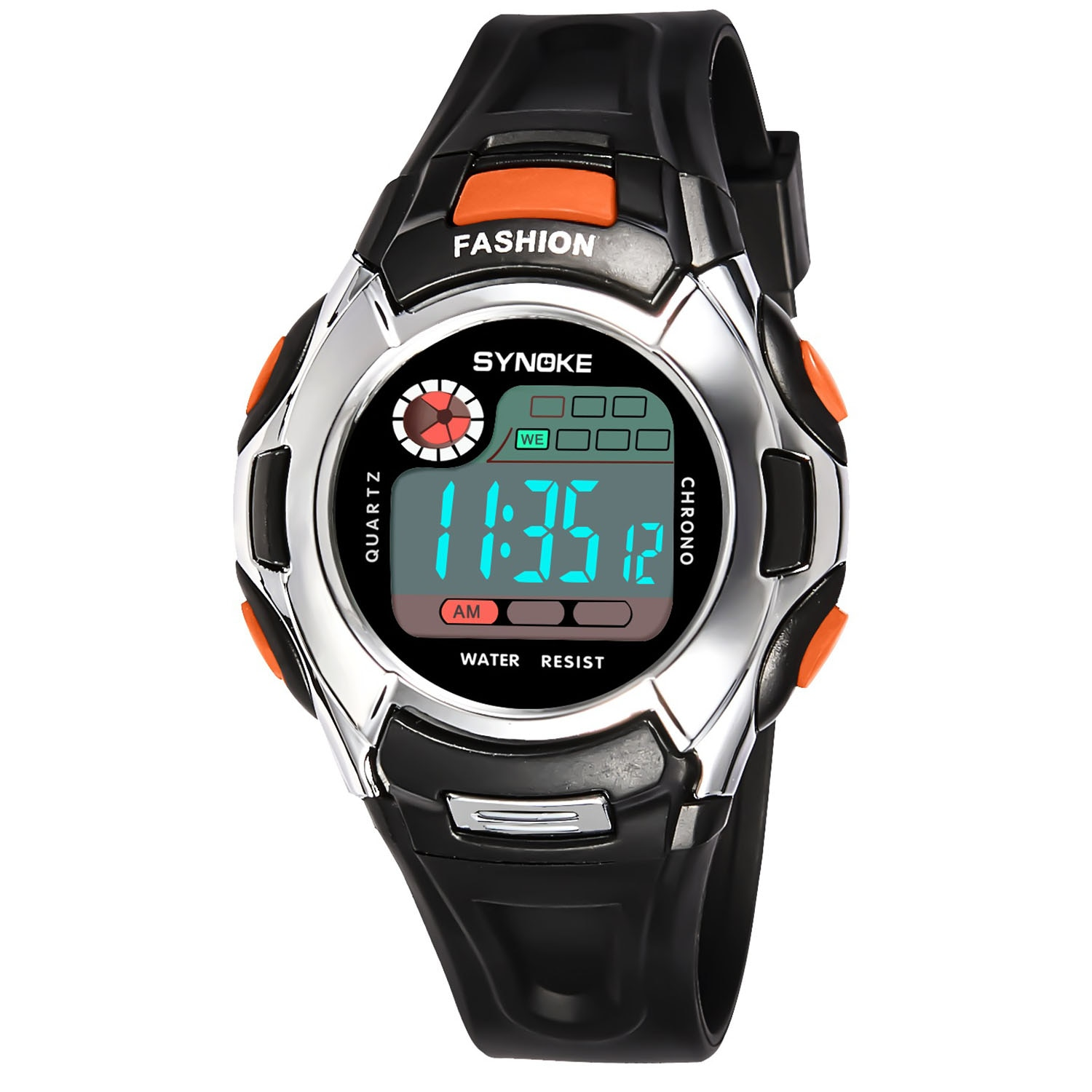 ohsen brand mens boys digital sports watches waterproof rubber band wristwatch led colorful backlight red army kids watch gift Kid Children's Sports Watches Boys Waterproof Kids LED Digital Watch For Girls Electronic Clock Wristwatch Chronograph gift male