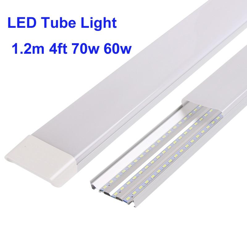 10 قطعة Led أنبوب ضوء بار ضوء الصلب قطاع 70w 60w 40w 27w 60 سنتيمتر 90 سنتيمتر 120 سنتيمتر Led شقة سمن ضوء ثلاثي برهان 3 الخطي led ضوء
