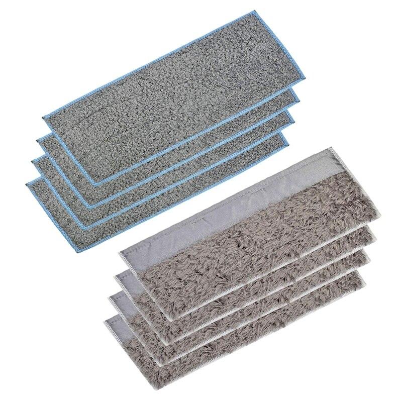 4 влажных прокладки и 4 сухих прокладки моющиеся и многоразовые моющие прокладки для IRobot Braava Jet M6 (6110) робот-Швабра