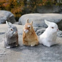rabbit simulation rabbit animal model three color high 16cm rabbit decoration home decoration zakka handicraft