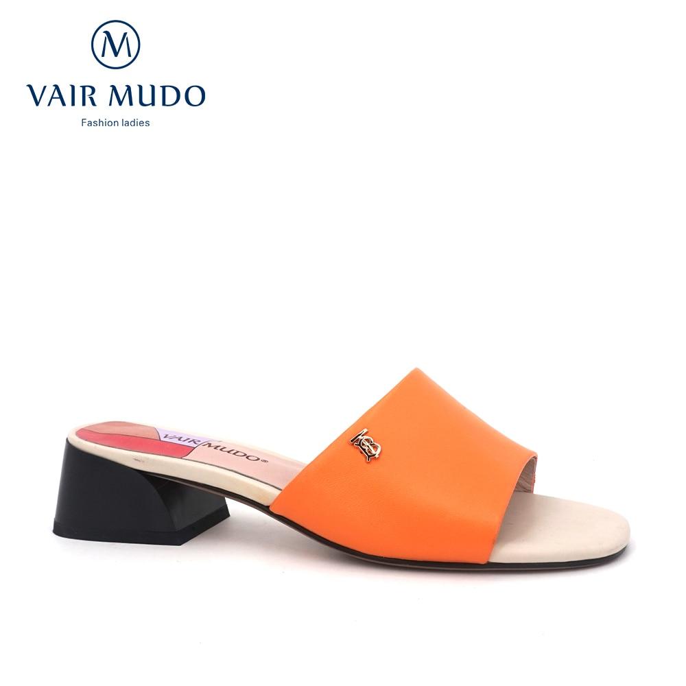 VAIR MUDO 2020 شبشب صيفي أنيق جديد أحذية جلدية ارتداء كعب منخفض موضة البرية المفتوحة تو النعال السيدات في الهواء الطلق الصنادل LT2