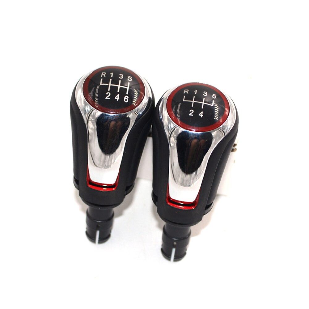 Para Volkswagen VW Golf 7 MK7 Golf 5 Golf 6, perilla de engranaje de coche 5 6, perilla de cambio de velocidad con accesorios de coche de pieza cromada