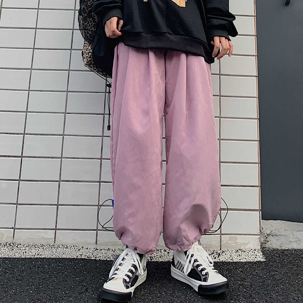 Ankle Banded Pants Women's New All-Matching Loose Retro Solid Color Cropped Harem Pants Spring and A