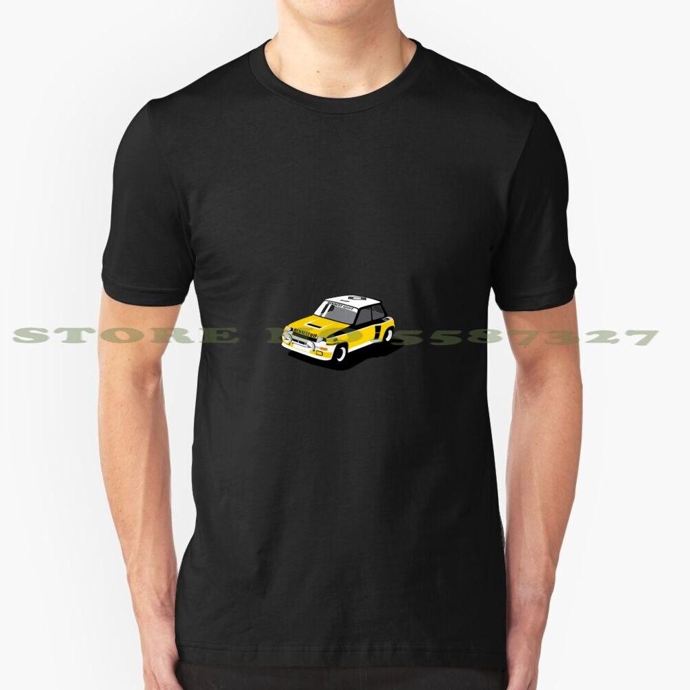 Camiseta de diseño moderno para Renault 5 Turbo, Rally, Renault Turbo 5, carreras minimalistas en amarillo