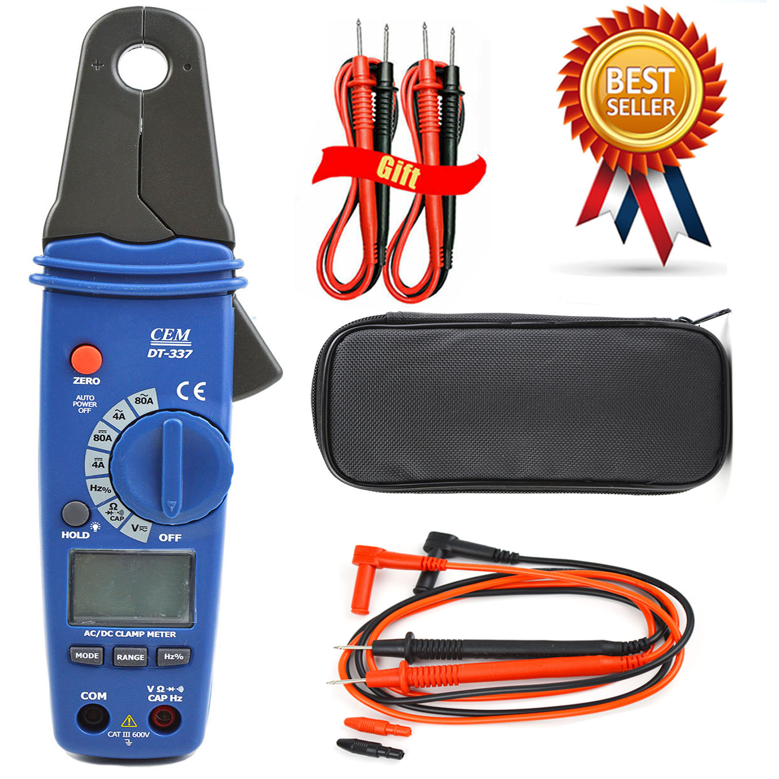 CEM DT-337 Digital Clamp Meter Small Jaw Ammeter High Precision AC / DC Clamp Meter Multimeter Leakage Current Meter Auto Repair vc6056a victor digital clamp meter victor 6056a