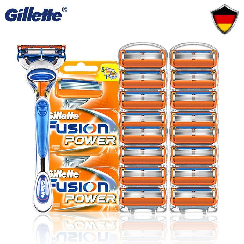 Original Fusion 5 Gillette 8pcs Razor Blades Men's Shaver Razor Face Shaver With Replaceable Blades For Men Shave Cassettes New