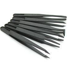 Kit de pincettes électroniques, en fiber de carbone antistatique jeu doutils manuels pour la réparation des PCB, 8 pièces