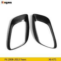 Carbon fiber Muffler Pipe decorative frame For BMW X6 35i xDrive 2008-2013 year E71 tail CF base coat muffler frame 1 pair