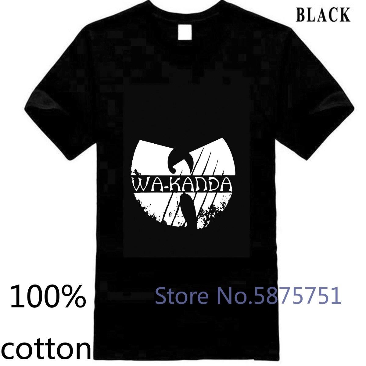 Camiseta de hombre WAKANDA de Los Vengadores del cómic MARVEL de La Pantera Negra camiseta tops camisetas 100% de algodón 3XL 4XL 5XL manga corta