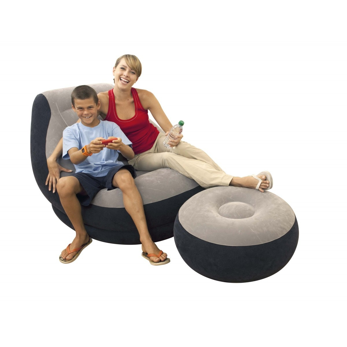 lazy inflatable bed home new air single two people both use black wave flocking bed factory creative home wholesale air soa beds Child Bed Camping Clamshell Chair Bed Bed Fishing Chair Lazy Flocking Inflatable Sofa Suit Thickened Single Lunch Break Chair