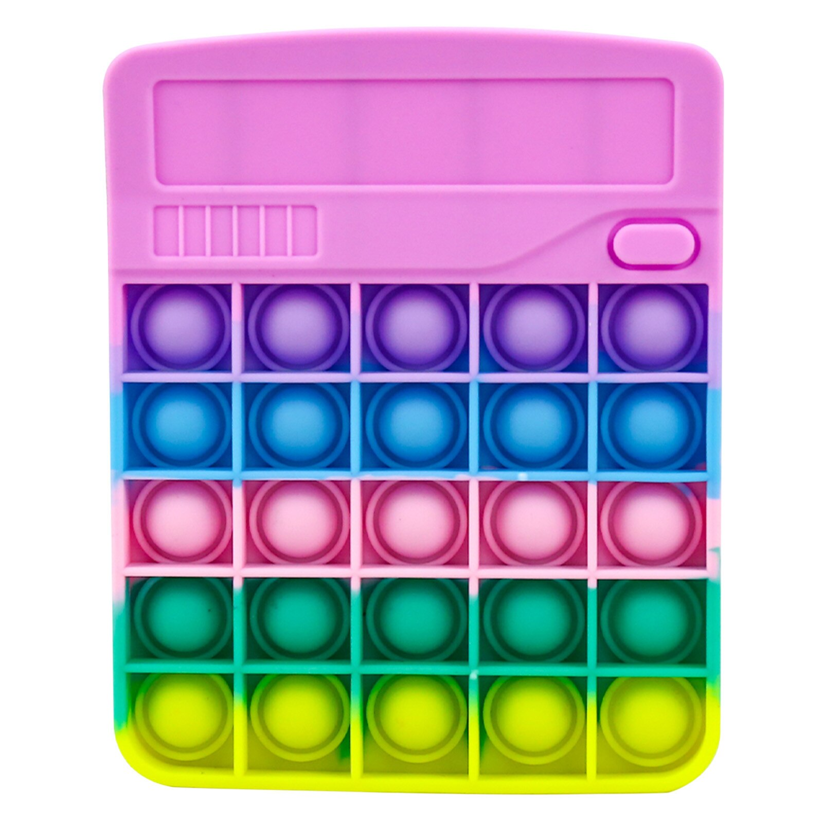 Calculator Popular Stress Relieving Fidget Toy Kids Adults Pinch Bubble Anxiety Autism Silicone Toy Simple Dimple Brinquedos
