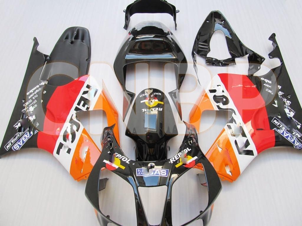 Carenados de plástico para Honda VTR1000 RR 2000 - 2006 RTV1000R RC51 01 02 REPSOL carenados para Honda VTR1000 RR 01 02 Kits de cuerpo completo
