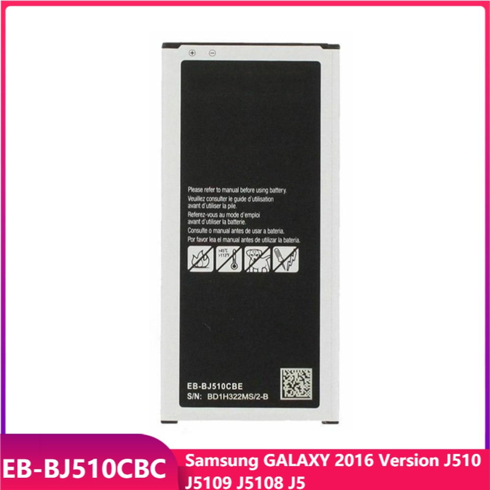 Оригинальная Аккумуляторная батарея для телефона Samsung GALAXY 2016 версия J510 J5109 J5108 J5 Сменные аккумуляторные батареи 3100 мАч