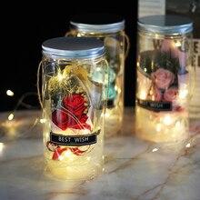 Décoration de mariage belles roses bêtes   Gardées dans une bouteille en plastique artificiel, cadeau de jour darachide
