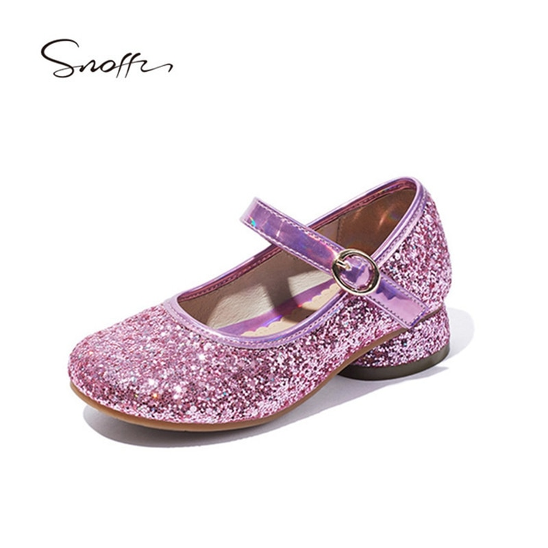 Zapatos de tacón alto para niños y niñas, zapatos Boda de Princesa...