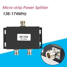 136-174MHz 1 zu 2 Way Cavity N-Buchse Power Splitter/Teiler für walkie talkie booster/Repeater Station